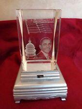 Collectible Obama Glass Pedestal Rotating Light (#0948)