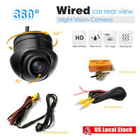 HD Sony 360°Rotatable Mini CCD Rear View Car BUS Backup Camera IP67+Night Vision