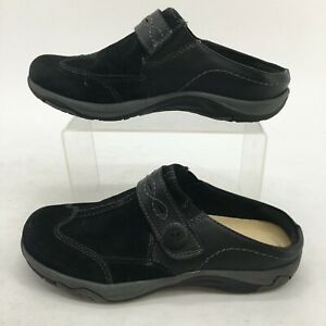 Earth Spirit Mule Clogs Womens 6.5 Black Suede Casual Slip On Shoes Comfort
