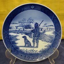 1977 Royal Copenhagen Christmas Plate Denmark Immervad Bridge Danish Blue