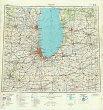 Russian Soviet Military Topographic Maps  - sheet CHICAGO, 1:1 000 000, ed.1965