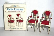 Petite Princess Vintage Miniature Dollhouse Furniture Host Dining Chairs