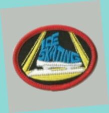 "2-1/4"" Oval Ice Skating Boot Patch Mint - Great For Scouts & Skating Parties"