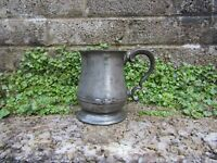 Antique Pewter tankard - 19th century Georgian - Bar decor