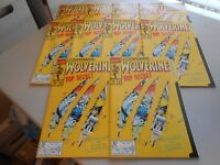 Lot of 10 copies of 1992 Wolverine Comic #50 Weapon X File Die-Cut Cover