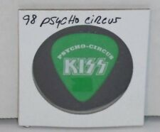 KISS PETER CRISS PSYCHO CIRCUS TOUR GUITAR PICK  -  WHITE ON POWDER GREEN