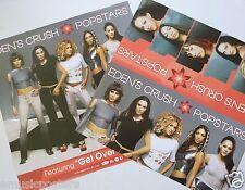 "EDEN'S CRUSH ""POPSTARS"" 2-SIDED U.S. POSTER -Nicole Scherzinger, Sexy Girl Group"
