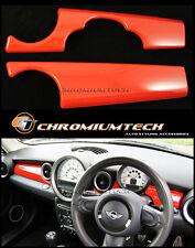 MK2 MINI Cooper/S/ONE RED Dashboard Panel Trim Cover R55 R56 R57 R58 R59 LHD