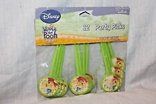 NEW IN PACKAGE WINNIE THE POOH DISNEY 12 PARTY PICKS  PARTY SUPPLIES