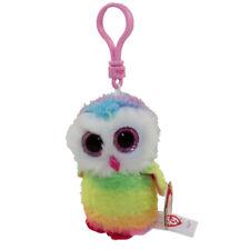 Ty Beanie Boos - Owen the Owl (Glitter Eyes) (Key Clip) *New Bright Colors*