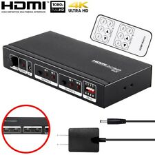 2x2 HDMI Matrix Switch Splitter Selector 4K 1080p 3D 2 In Source 2 Out Display