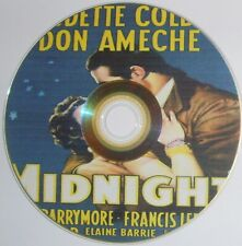 DRAMA 286: MIDNIGHT (1939) Claudette Colbert, Don Ameche, John Barrymore, Astor