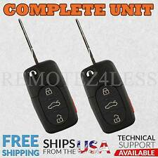 2 For 1998 1999 2000 2001 Volkswagen VW Jetta Keyless Entry Remote Car Key Fob