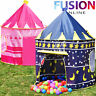 Childrens Kids Pop Up Castle Playhouse Girls Princess / Boys Wizard - Play Tent