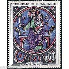 1964 - FRANCE/NEUF** -VITRAIL ROSE DE NOTRE DAME DE PARIS - TIMBRE - Yt.1419