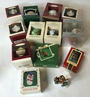 A Lot Of 13 Hallmark Keepsake Christmas Ornaments Ball Globe Vintage Snoopy Rare