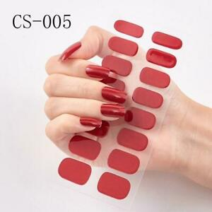 53colors Nail Polish Stickers Solid Pure Color Classical Strips Waterproof Self-