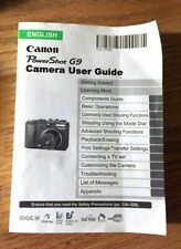 Canon Genuine Powershot G9 Camera Instruction Book / Manual / User Guide