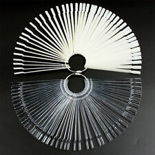 50 Clear False Display Nail Art Fan Rad Polnisch Praxis Farbe Pop Tip Sticks,A/