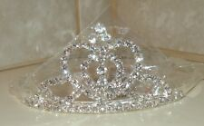 Tiara Silver Metal & Rhinestone Princess Queen Costume Headpiece