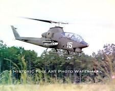 VIETNAM WAR PHOTO US ARMY AIR CAVALRY AH-1 COBRA GUNSHIP 1969 8x10 #22033