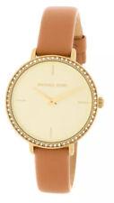 Michael Kors Ladies Petite Sofie Brown Leather Watch  - MK2841