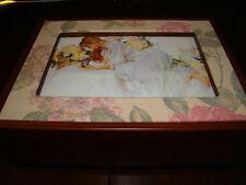 """Sankyo Music / Photo Keepsake Box - """"Amazing Grace"""" - Approx. 8"""" x 6"""" x 2 1/4"""""""