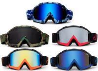 "Men Snow Ski Goggles ""Gorilla""  Anti-Fog Dual Lens UV400 Snowboarding w Pouch"