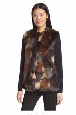 Bernardo Women's Faux Fur Patchwork Vest