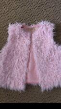 Genuine Kids From Oshkosh Toddler Girl Pink Fuzzy Vest - Size 2T-3T