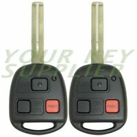 2 New Replacement Keyless Entry Remote Key for GX470 LX470 HYQ1512V- Short Blade