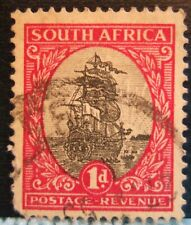 1926 South Africa 1D Dromedaris Revenue : Customs Duty Stamp!
