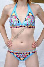Synthetic Floral Plus Size Bikini Sets for Women