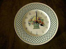 """Horloge Pendule Porcelaine Germany VILLEROY & BOCH modèle """"BASKET"""" clock"""