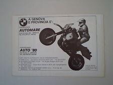 advertising Pubblicità 1984 GASTON RAHIER e MOTO R80 R 80 GS G/S PARIS DAKAR