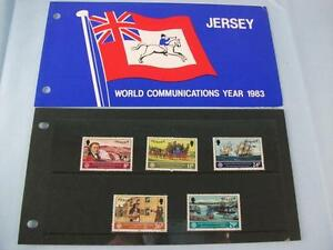 Jersey Stamps presentation pack 'World communications year 1983' set of 5 stamps