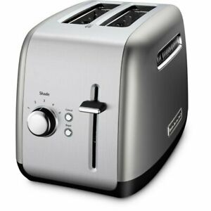 KitchenAid Refurbished 2-Slice Toaster with Manual Lift Lever | Contour Silver