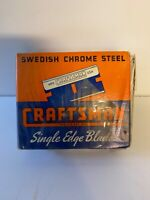 Vintage Craftsman Tools NOS Unused Full Box Of Razor Blades; Single Edge; Lot #1