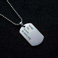 Collier Femme,Homme,Plaque Militaire,Armée,Acier,Belle Qualité,France,TendanceFR