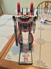TRANSFORMERS G1 JETFIRE with armor, blaster and instructions