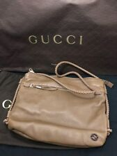 RRP£880 Gucci GG logo Brown Leather mens crossbody bag Used once