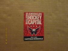 NHL Washington Capitals Vintage Circa 2011-2012 Logo Hockey Pocket Schedule