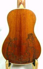 Alulu solid mahogany concert ukulele,Laser hawaiian hula girl,hard case, HU844
