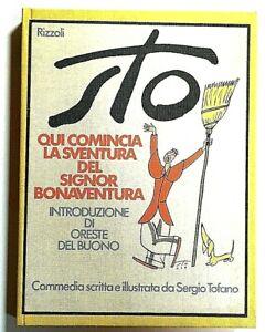 Sergio Tofano Qui comincia sventura Signor Bonaventura RIzzoli 1974 John Alcorn