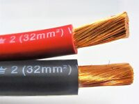 12' FT EXCELENE 2 AWG GAUGE WELDING & BATTERY CABLE 6' RED & 6' BLACK USA NEW