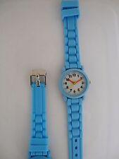 Montre Enfant Quartz PEDAGOGIQUE Bleue Clair UNIE Neuve + 1 Pile GRATUITE UNI02@