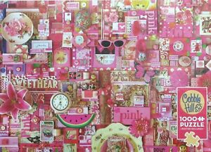 Cobble Hill All Things Pink 1000 pc Jigsaw Puzzle Collage Shelley Davies Collage