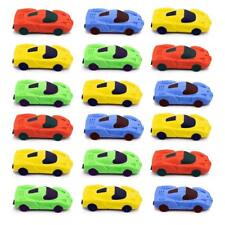 Car Eraser Pencil Pocket Toy Party Favors Kids School Stationary Christmas Gift