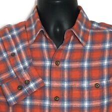 True Craft Flannel Shirt Small Men Orange Plaid Lumberjack Logger $50 New