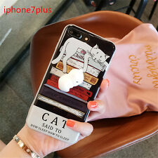 Silicone Soft lazy Cat Mochi Lovely 3D Phone Case Cover For iPhone 7 Plus U